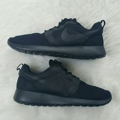 Hyperfuse Roshe Run Black NO TRADES NO SWAPS SELLING ONLY $120 on Merc   Women's Nike Roshe Run  Brand New 100% Authentic Price Negotiable  Any Questions, leave a comment below ask! Nike Shoes Sneakers