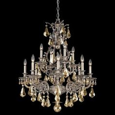 Schonbek Sophia 12 Light Crystal Chandelier Base Finish: French Gold, Shade Color: Strass Clear