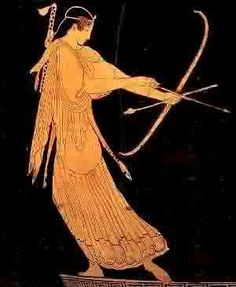 Greek Goddess Bow and Arrow | Artemis (Goddess of Hunting and Protector of Women, Bow and Arrow)