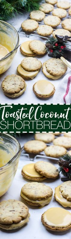These Coconut Shortbread Cookies with Salted Caramel Buttercream are a delicious twist on a favourite holiday cookie – and they're ready in just 25 minutes!