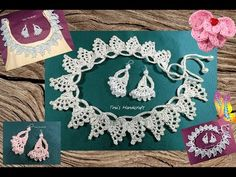 crochet stitch No 40 - necklace & earrings - YouTube