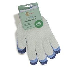 EvridWear Exfoliating Dual Texture Bath Gloves for Shower, Spa, Massage and Body Scrubs, Dead Skin Cell Remover, Gloves with hanging loop Pair Heavy Glove) Exfoliating Face Scrub, Exfoliating Gloves, Exfoliate Face, Diy Skin Care, Skin Care Tips, Spa Massage, New Skin, Smooth Skin, Good Skin