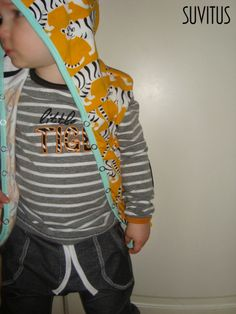 I made sleeveless hoodie, appliqued shirt and loose pants for my son. Inspired by Mini Rodini. Sleeveless Hoodie, Loose Pants, Sons, Applique, Inspired, Hoodies, T Shirt, Crafts, Inspiration
