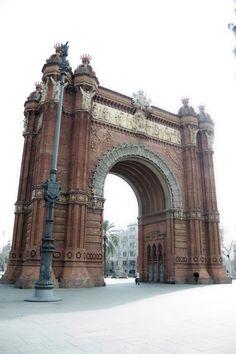 Arco del Triunfo, Barcelona, España