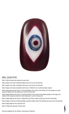 GEL-OUS EYE Nail look designed by Terri Silacci, exclusively for Sephora. #nailspotting #Sephora #beauty #SephoraOPI