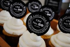 personalized Jack Daniels inspired cupcake picks - printable (great for birthdays, college graduations, retirement, etc.)