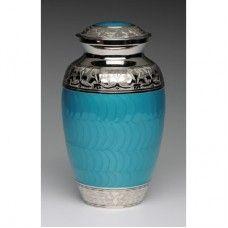 Teal Cremation Urn