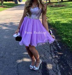 Homecoming Dress Light Purple Homecoming Dress by VeraFashion, $135.00
