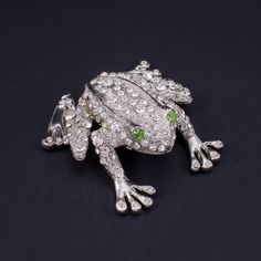 607d45444 Peridot Eyed Frog Paperweight Collectible Featuring Swarovski © Crystals / Isabella  Adams Designs