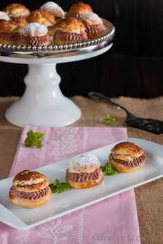 Petit choux con trufa y nata