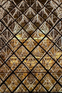 The Louvre. (Musée du Louvre), Paris France. 1989. I. M. Pei