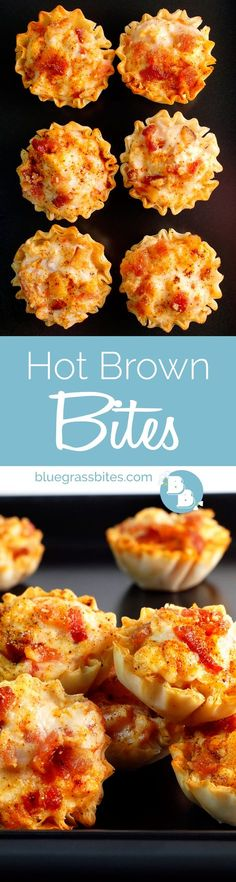 A bite-sized take on the classic and decadent Hot Brown! A necessary addition to your #Derby party appetizer line-up!