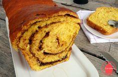 Q-e-zine: Brioche potimarron et pâte à tartiner pour le défi boulange ! Zine, Allah, Banana Bread, Baking, Desserts, Brioche, Recipe, Red Kuri Squash, Bakery Business