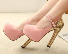 Free shipping platform pumps buckle party sexy high heels 2013 spring new fashion glitter for women shoes woman girls SXX03048