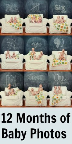 12 Months of Baby Photo Shoots