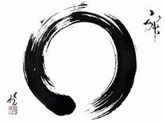 """Enso, Symbool van Zen De cirkel (Enso) is het symbool van verlichting, kracht, het universum, het """"alles"""", de leegte."""