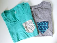 DIY a pocket tee with this step by step tutorial.