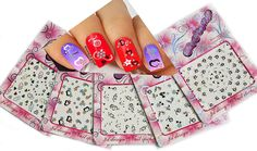 Adorable Nail Art 3D Stickers Decals With Rhinestones Hearts / Flowers Variety Pack of 5 -- You can find out more details at the link of the image.