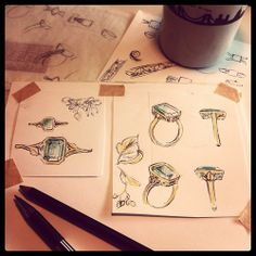 Afternoon designing #jewelry