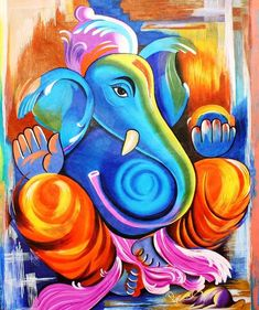 Shop for ganesha art from the world's greatest living artists. All ganesha artwork ships within 48 hours and includes a money-back guarantee. Choose your favorite ganesha designs and purchase them as wall art, home decor, phone cases, tote bags, and more! Ganesha Drawing, Lord Ganesha Paintings, Lord Shiva Painting, Ganesha Art, Krishna Painting, Buddha Painting, Jai Ganesh, Ganesha Tattoo, Indian Art Paintings
