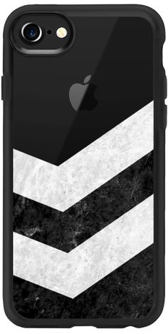 Casetify iPhone 7 Classic Grip Case - White on Black Striped Marble - Transparent by Nicklas Gustafsson #iphone #iphone7 #iphone7case #iphonecase #marble #marblecase #case #blackandwhite #striped #stripe #stripes #casetify #transparent #clear