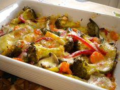 COMIDINHAS       FÁCEIS: Cação com legumes no forno