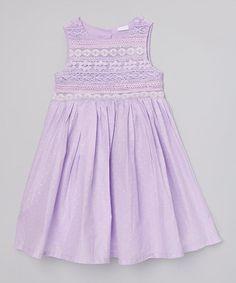 Love this Lilac Swiss Lace Yoke Dress - Toddler & Girls on #zulily! #zulilyfinds