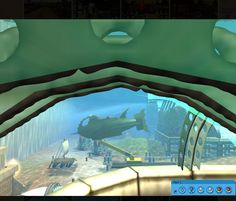 (1) Roller Coaster Tycoon 3 - Petka's Dream Park - Fase 02-03-2013 - Underwater view from inside aquarium - 4