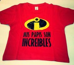 Camiseta increíbles desde 3 meses www.rockubaby.es