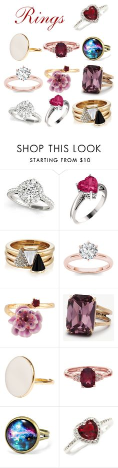"""""""Rings"""" by another-one2 ❤ liked on Polyvore featuring Brixton, Les Néréides, Ann Taylor and New Directions"""
