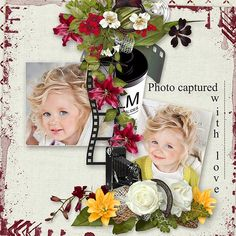 "Follow your Heart 2 by MLDesign _ page kit, patterns and cardstock _ ""capture with love"" _ page Olivia"