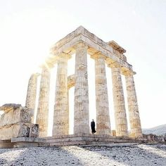 The Nemean Games  were one of the four Panhellenic Games of Ancient Greece, and were held at Nemea every two years in honour of Zeus. They were said to have been founded by Heracles after he defeated the Nemean Lion  Photo by @fanellas  #AncientNemea #temple #NemeanGames #Zeus #Hercules #NemeanLion #greece #greecestagram #greecestagramit