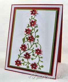 Memory Box FLowered Christmas Tree