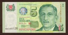 Singapore banknotes 5 Dollars banknote Portrait Series (1999–present). Singapore dollar, Singapore banknotes, Singapore paper money, Singapore bank notes, Singapore dollar bills - world banknotes money currency pictures gallery.