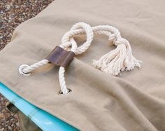 Khaki Canvas Surfboard Bag Board Bag Surfboard by theAtlanticOcean
