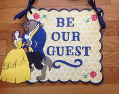 Beauty and the Beast Be Our Guest Disney Birthday Door Sign Beauty And Beast Birthday, Beauty And The Beast Party, Disney Birthday, Disney Theme, Be Our Guest Disney, Birthday Door, Our Wedding, Wedding Engagement, Wedding Ideas