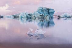 Cotton Candy Sunrise, Jokulsarlon Iceland by gsuhrie