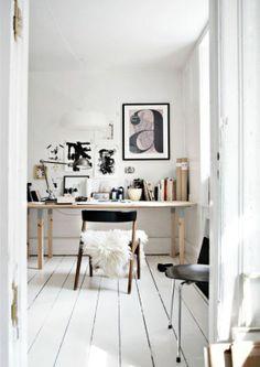 Danish design, interior inspiration, white floor