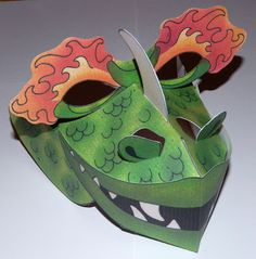 dragon mask.  Patterns and directions