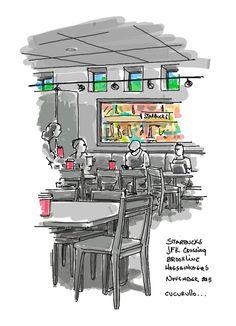 Life in the fast lane #blonde on blonde #breakfast @Starbucks #jfk crossing #brookline @TimWaites @meckensb #iPadPro