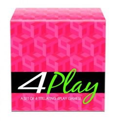 4 Play Game Set A set of four titillating games. Enjoy Wheel of Pleasure, where you spin to perform sexual fantasies on your lover.