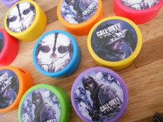 12ct CALL OF DUTY GHOSTS Multi-colored Pencil Sharpeners, birthday party favors