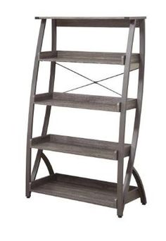 Harsen Book Case with 5 Shelves in Weathered Grey Finish by Coaster Furniture from Homeandliving.com at SHOP.COM