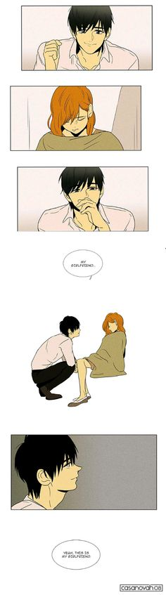 When bae looks at you like this... <3 <3  Cheese in the Trap by soonkki Check it out here: http://www.webtoons.com/en/romance/cheese-in-the-trap/list?title_no=99