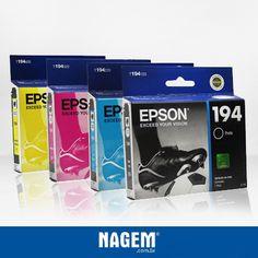 Impressão de qualidade para seus trabalhos. Confiram nossas ofertas de cartuchos Epson. #Epson #Oferta