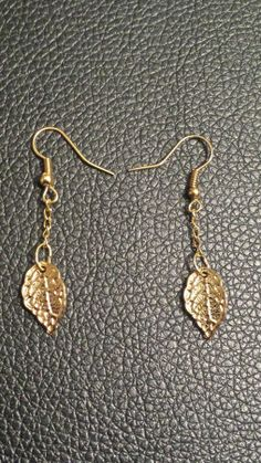 "Day 223: Boucles d'oreilles ""golden leave"""