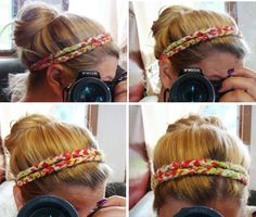 Best part about this headband is you can make it from scraps. It could also be a necklace or a wrap-around bracelet