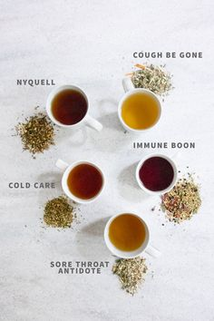 5 Cold-Busting Herbal Tea Blends When the scratchy throats and runny noses hit your house, break out these five herbal tea blends to get yourself feeling better in a jiffy. 5 Natural Sore Throat RemHerbal Remedies for ColdsMessmer Herbal Tea – Sage Cough Remedies For Adults, Cold Remedies, Herbal Remedies, Health Remedies, Herbal Tea Benefits, Best Herbal Tea, Herbal Teas, Natural Living, Tea For Cough