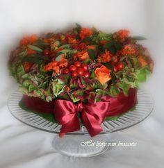 My homemade Autumm flower cake....