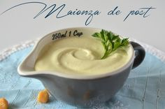 Maioneza de post, o reteta indisp. Creamed Eggs, Vegan Cheese, Pavlova, Vegan Recipes, Vegan Food, Healthy Food, Macarons, Blog, Clean Eating